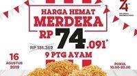 17 Agustus Bisa Puas Makan Ayam Goreng dengan Diskon Kemerdekaan