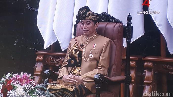 Jokowi di sidang bersama DPD-DPR. (Zunita/detikcom)