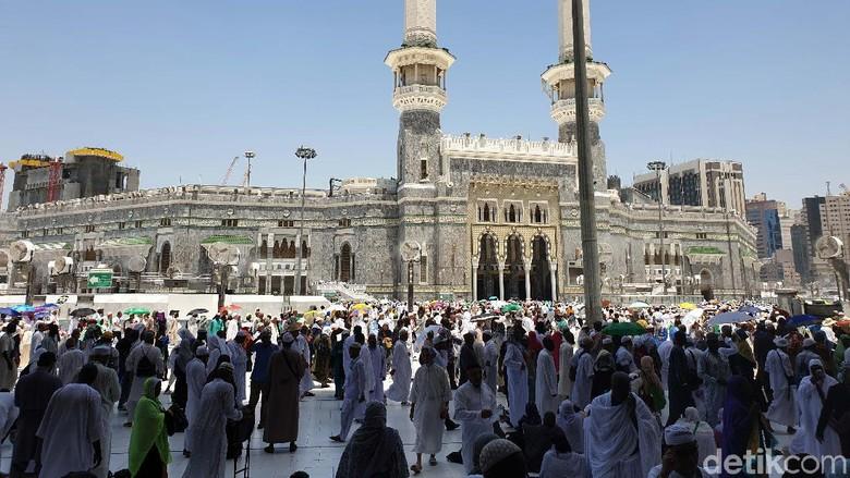 Jamaah haji di Masjidil Haram (Ardhi Suryadhi/detikcom)
