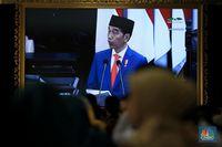 Di Hadapan  DPR, Jokowi Bicara Kejahatan Siber Hingga AI