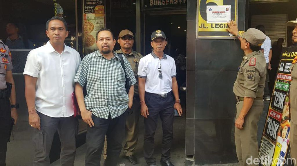 Belum Urus Izin, Kelab Malam di Legian Bali Kembali Dibekukan Satpol PP