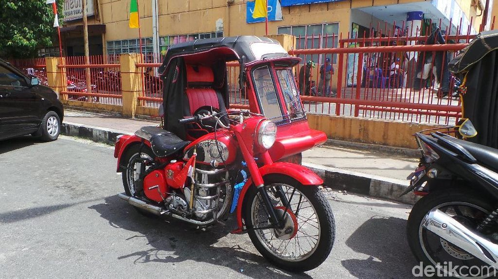 BSA, Motor Zaman Penjajahan yang Kini Jadi Becak di Siantar