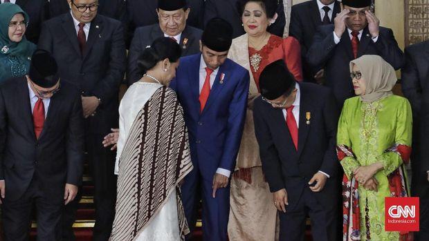 Jokowi dan Iriana Jokowi di Sidang Tahunan MPR