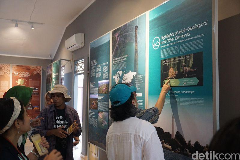 Inilah Geopark Information Center yang dimiliki Belitung. Juli 2019 lalu, UNESCO menilai sejumlah tempat di Indonesia salah satunya Belitung untuk dinobatkan menjadi warisan dunia (Shinta/detikcom)