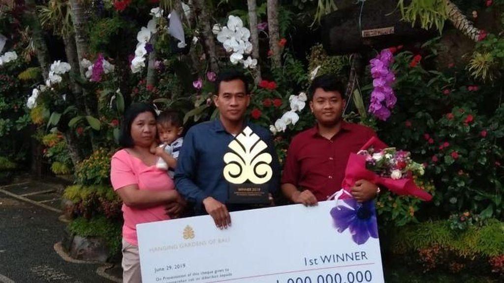 Berkat Percantik Taman Rumah, Agen Koran di Bali Dapat Hadiah Rp 1 Miliar