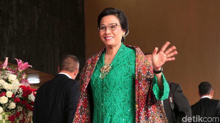 Menteri Keuangan Sri Mulyani Indrawati di DPR/Foto: Lamhot Aritonang