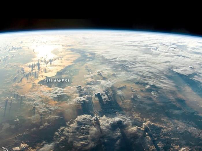 Jepretan Sulawesi dari ISS. Foto: NASA