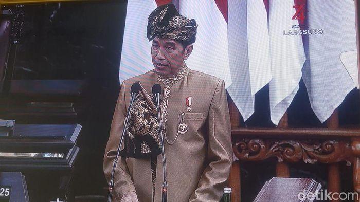 Foto: Pidato Kenegaraan Jokowi (Zunita/detikcom)