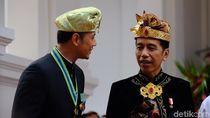 Hadiri Upacara HUT ke-74 RI di Istana, AHY Sapa Jokowi
