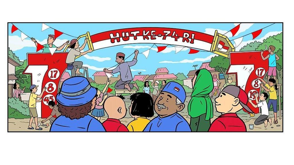 Google Doodle Ikutan Rayakan HUT ke-74 RI