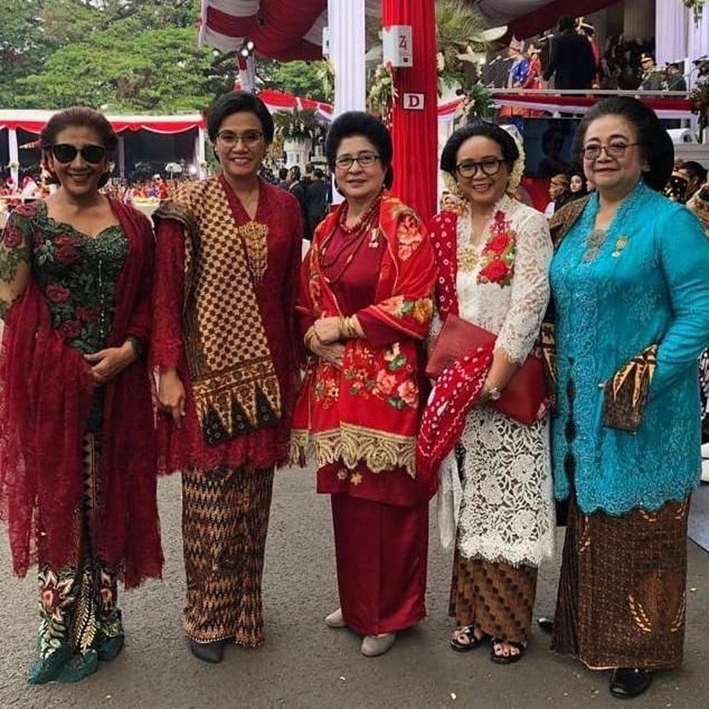Foto: Pesona Srikandi di Kabinet Jokowi, Anggun Berkebaya di HUT ke-74 RI