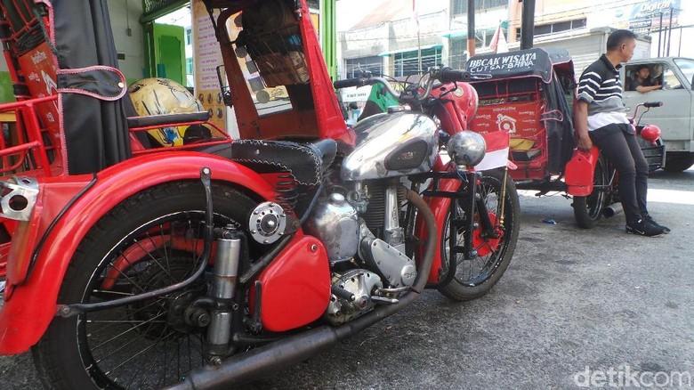 Becak motor BSA di Kota Pematangsiantar Foto: Budi Warsito