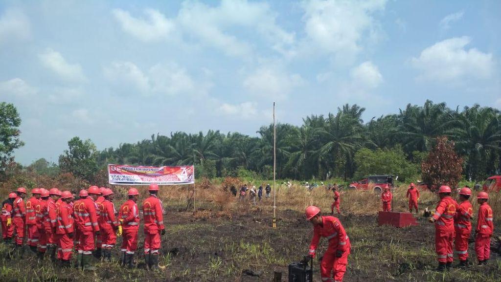 Video Upacara HUT RI di Lahan yang Menghitam karena Kebakaran Hutan