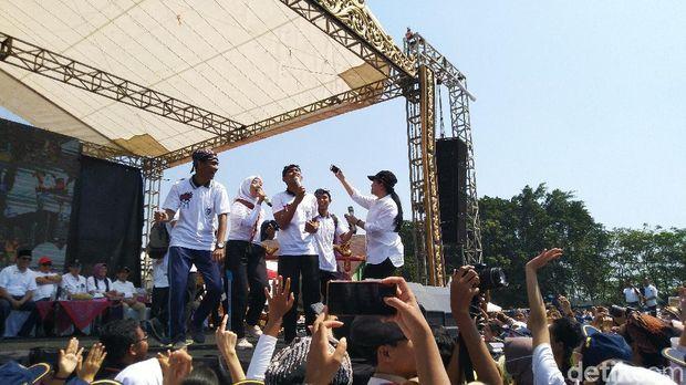 Puan Maharani di Orientasi Diponegoro Muda di Universitas Diponegoro Semarang.