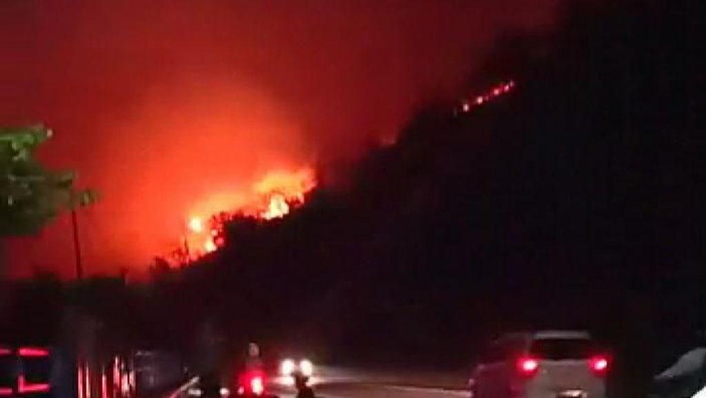 Bukit Pandanan Lombok Utara Terbakar, Akses Wisata Terganggu
