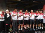 Rayakan HUT RI, Kapolda dan Pangdam Jaya Buka Sepeda Santai di Tangsel