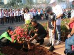Momen Anies Tanam Bugenvil Demi Atasi Polusi Udara