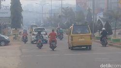 Sempat Berkurang, Kabut Asap di Kota Jambi Kembali Pekat