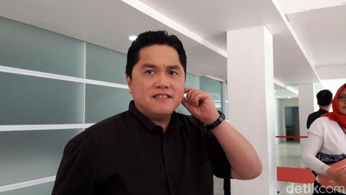 Foto: Erick Thohir di Istora Senayan (Isal Mawardi/detikcom)