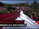 Merah Putih Sepanjang 400 Meter Terbentang di Bukit Tokka