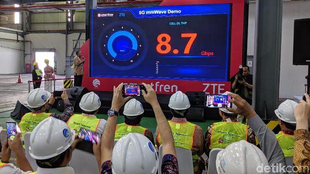 Jajal 5G, Kecepatan Internet Smartfren Tembus 8,7 Gbps