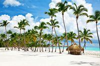 Pesisir pantai yang cantik di Republik Dominika