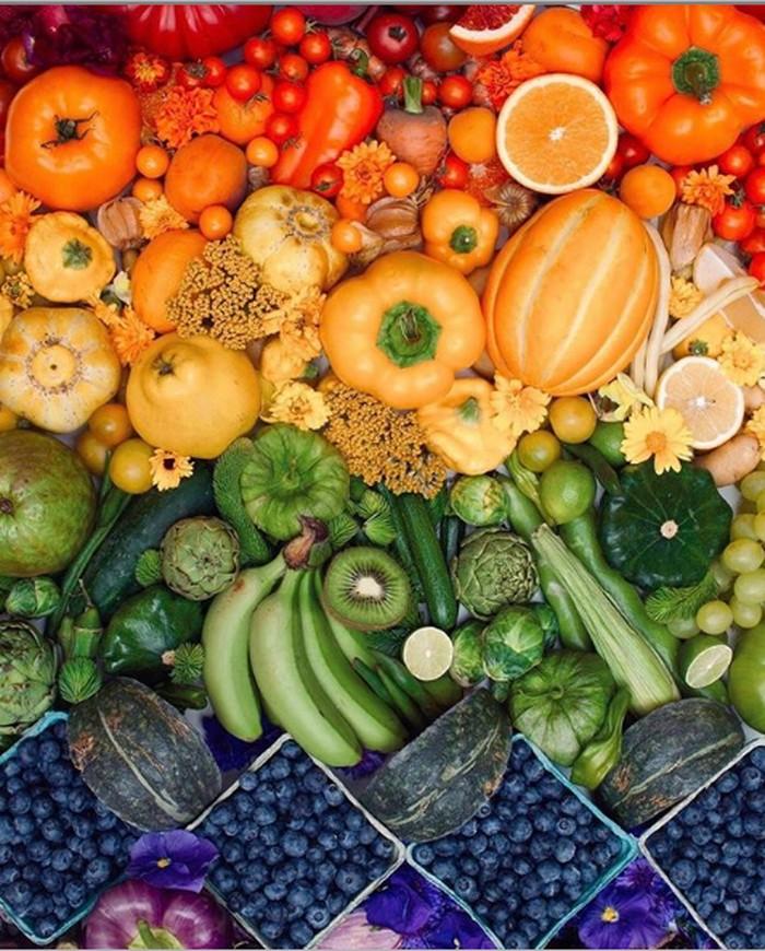 Food artist yang pernah harus difollow adalah dengan nama akun @Wrightkitchen. Di lama instagramnya ia kerap membagikan potret buah, sayur dan makanan lainnya yang ditata rapi dengan warna gradasi yang senada. Foto: Istimewa