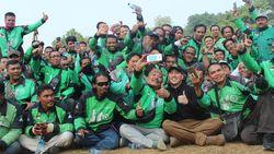 HUT RI, Driver Gojek dari Sabang-Merauke Upacara Bendera di Cibubur