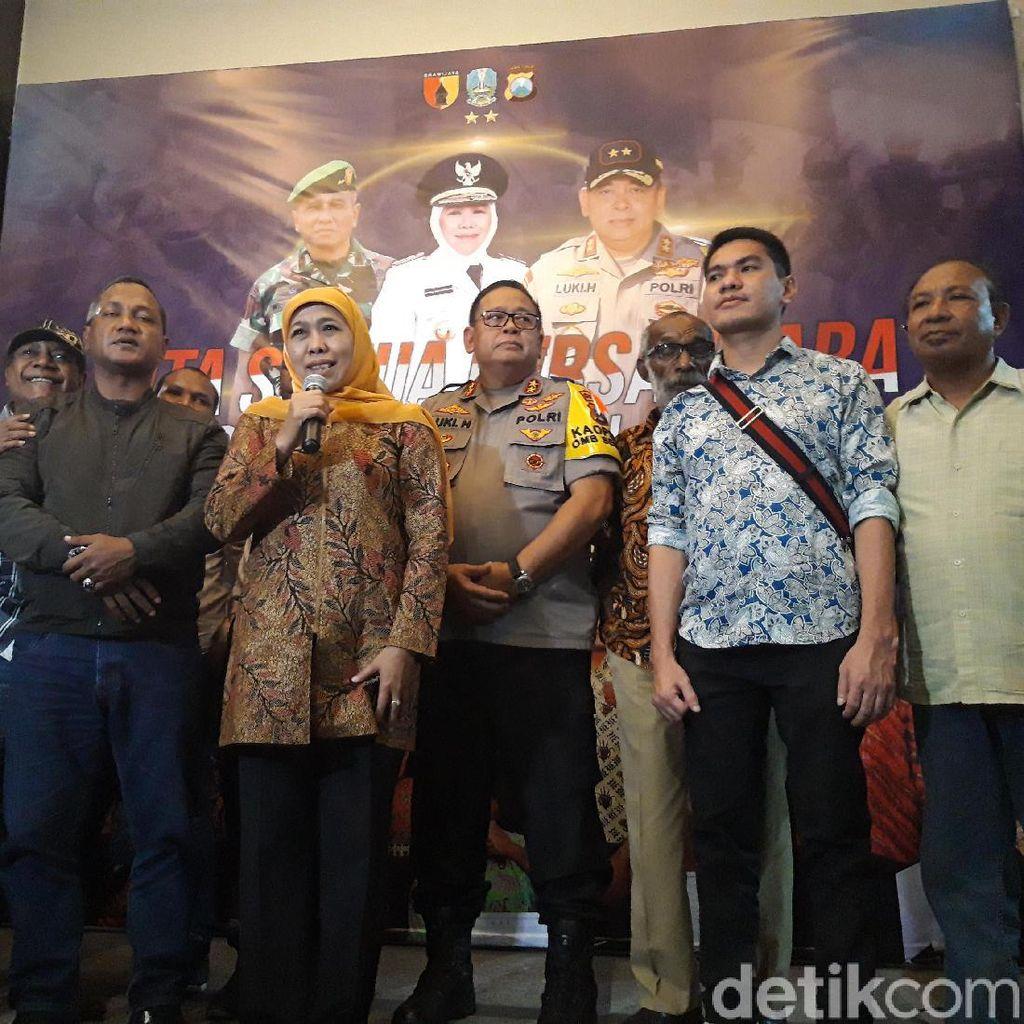Keluarga Besar Papua di Surabaya Cangkrukan Bareng Forkopimda Jatim