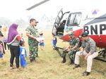 Tinjau Karhutla, Heli Bupati Musi Banyuasin Mendarat Darurat di Jambi