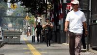Pedestrian di Jalan Cikini Raya ini jadi salah satu pedestrian yang direvitalisasi oleh Pemprov DKI Jakarta agar lebih ramah bagi pejalan kaki.