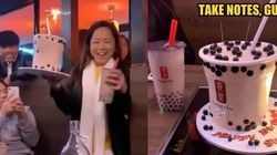 Unik! Wanita Ini Dapat Kejutan Kue Ultah Bertema Minuman Boba