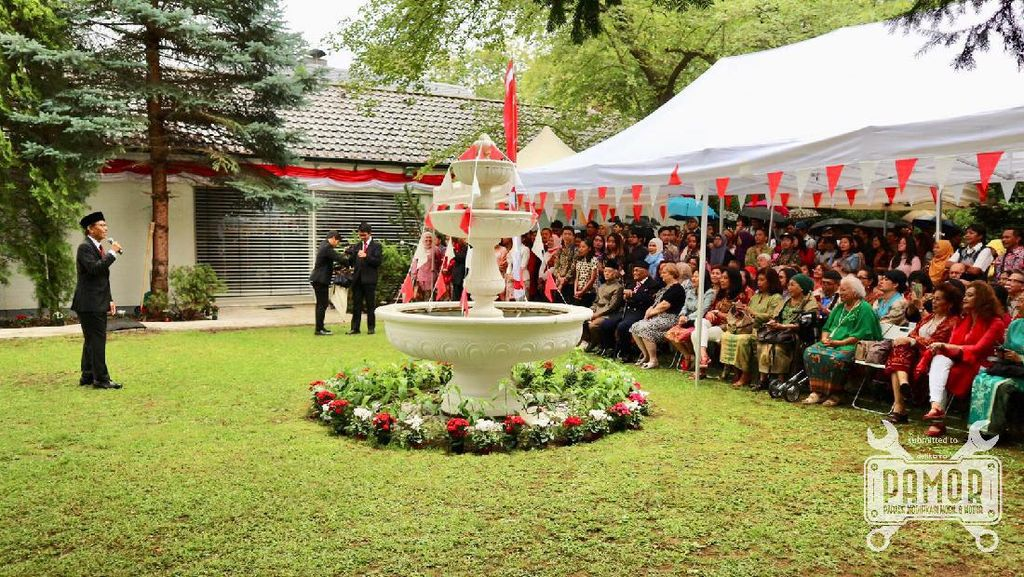 Pesan Toleransi dan Kerukunan dalam Upacara HUT ke-74 RI di Frankfurt
