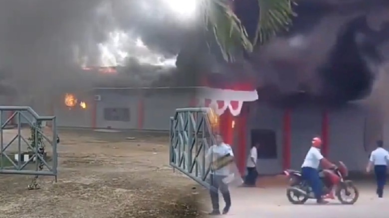Lapas Sorong Dibakar, 258 Napi Kabur