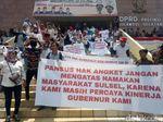 Massa Pro-Nurdin Abdullah Demo di DPRD Sulsel, Tolak Wacana Pemakzulan