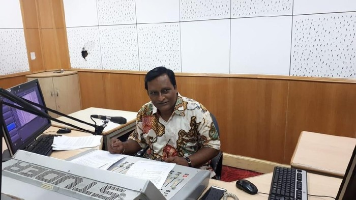 Kishor Kumar Das, penyiar AIR yang fasih berbahasa Indonesia (Foto: Haris Fadhil/detikcom)