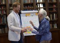 Pangeran Harry dan Dr. Jane Goodall