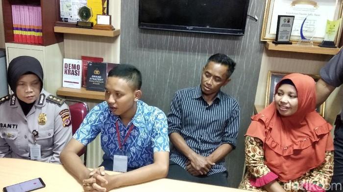 Siswa SMK penolong Aiptu Erwin ingin menjadi seorang anggota Polri. (Foto: Dony Indra Ramadhan/detikcom)