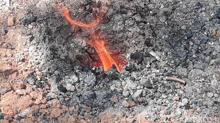 semburan api bekas sumur bor di sragen