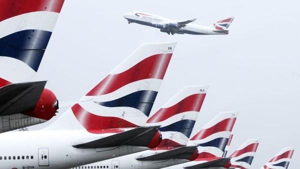 Hanya ada satu rute penerbangan yang mampu menembus angka di atas satu miliar dolar. Adalah layanan dari maskapai British Airways (British Airways/CNN)