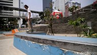 Miris, Belum Lama Diresmikan Skate Park di Dukuh Atas Rusak