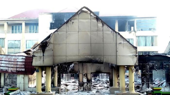 Dampak Kerusakan di Manokwari Pascakerusuhan (Foto: Antara Foto)