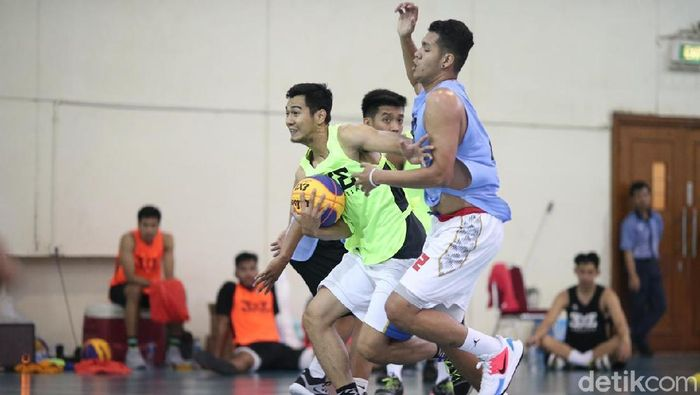 Seleksi timnas basket 3x3 menuju SEA Games 2019 Filipina tahap pertama di Jakarta. (dok. Perbasi)