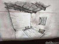Gambar tempat tidur Nabi Muhammad SAW di Museum Ashaabee. Untuk mengelabui kaum Quraisy yang hendak membunuhnya, Rasulullah meminta Ali bin Abi Thalib menyamar sebagai dirinya dan berbaring di ranjang (Ardhi/detikcom)