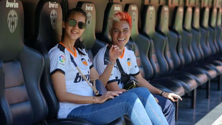 Aksi Baim Wong dan Paula di Kandang Valencia