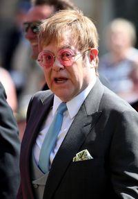 Elton John di pernikahan Pangeran Harry dan Meghan Markle tahun lalu.