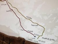 Ini merupakan rute hijrah Nabi dari Makkah ke Madinah (Ardhi/detikcom)