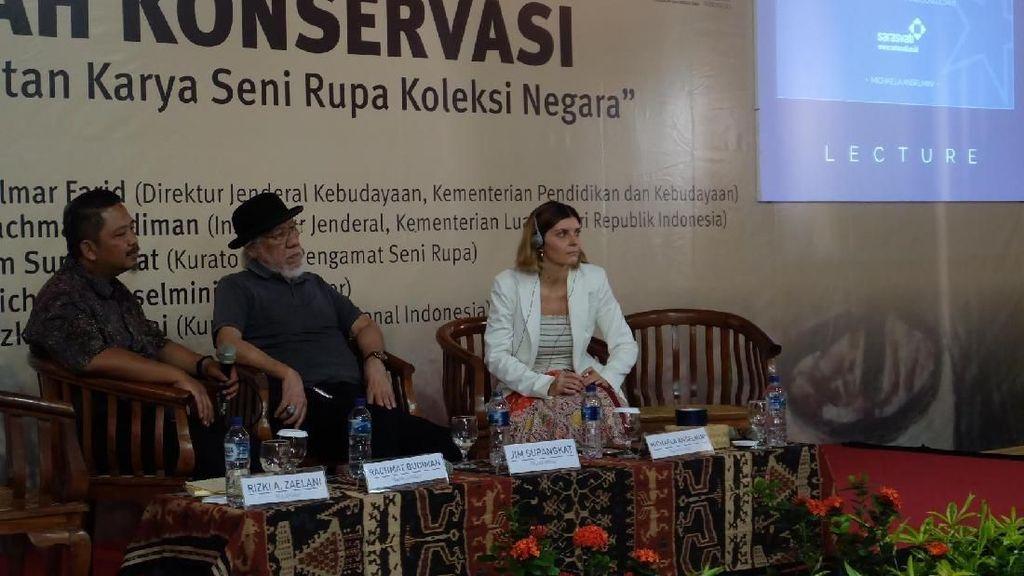 Kerak di Lukisan Raden Saleh yang Ada di Yogyakarta Tak Perlu Diperbaiki