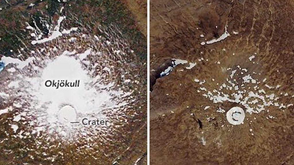 Gawat! Gletser di Salah Satu Gunung Islandia Hilang