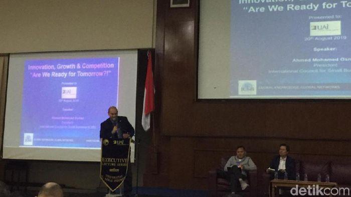Foto: Pengusaha sukses asal Mesir, Ahmed Osman, (Vadhia Lidyana/detikFinance)